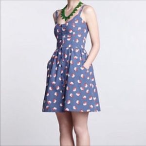 Hi There Anthropologie Strawberry Print Dress